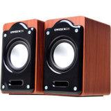 全网底价 EARISE 雅兰仕 AL-107 笔记本音箱 2.0手工木质箱体 迷你USB小对箱 木纹色